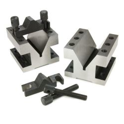 33244 - Heavy Duty 60° V-Block / Clamp Set