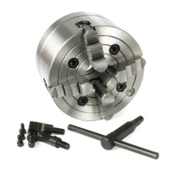 33336 - 4-Jaw Independent Reversible 6 in. Lathe Chuck (D1 Type Direct Mount)