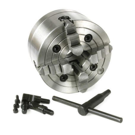 4-Jaw Independent Reversible 6 in. Lathe Chuck (D1 Type Direct Mount)