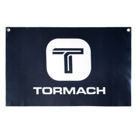 36 in. x 24 in. Satin Tormach Banner with Top Grommets