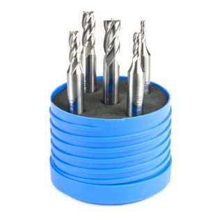 33443 - 4 Flute HSS End Mill Set (5 Pieces)